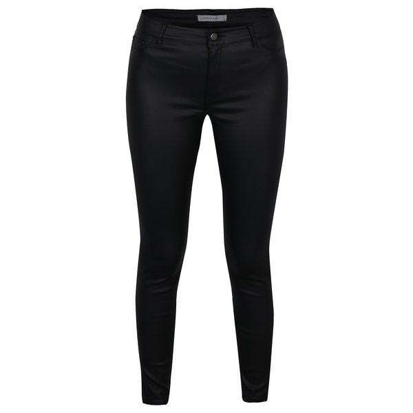 Pantaloni skinny negri cu aspect de piele si talie medie – Jacqueline de Yong Thunder