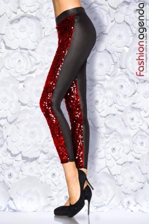 Colanti elastici stilati Cu Paiete Rosii Markus