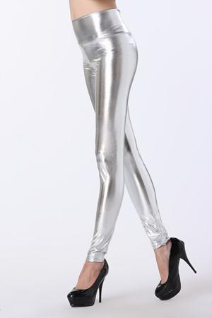 cumpara popular economii fantastice magazin de vânzare Colanti argintii dama cu Talie Inalta din Latex Magnus Silver ...