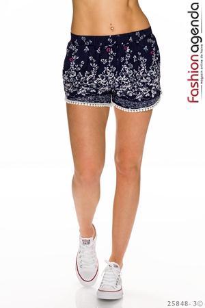 Pantaloni Scurti Anson Bleumarin cu model floral imprimat