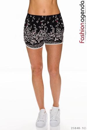 Pantaloni Scurti Anson Negri cu model floral imprimat