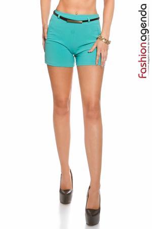Pantaloni Scurti cu talie inalta verde smarald Movement