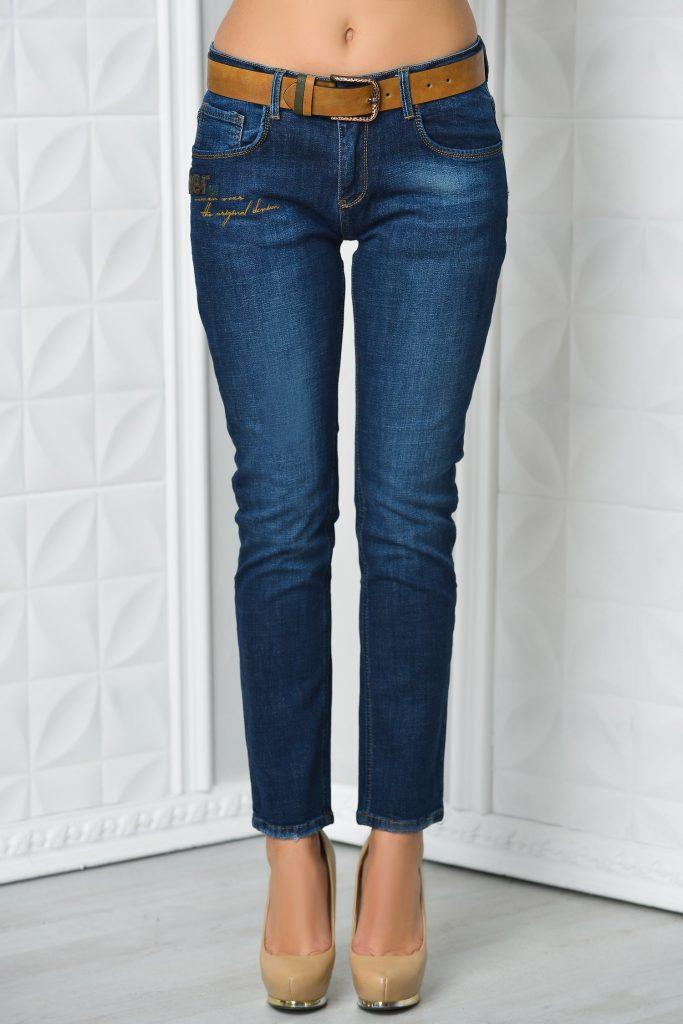 Jeans Yun bleumarin casual
