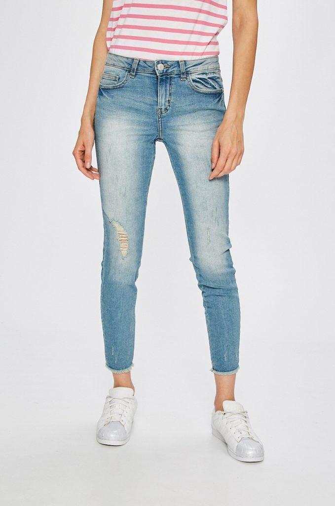 Jeansi skinny albastru deschis moderni pentru dama Jacqueline de Yong – Clari – originali de calitate superioara