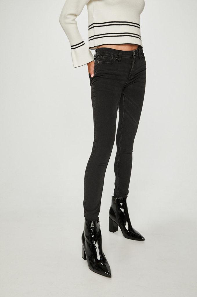 Jeansi moderni negri skinny pentru dama Jacqueline de Yong – Jake – originali de calitate superioara
