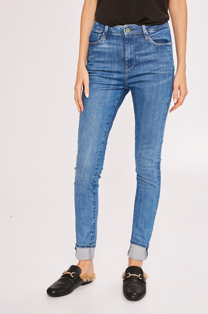 Jeansi albastri originali de firma Pepe Jeans – Dion – cu fason potrivit cu talia regulara